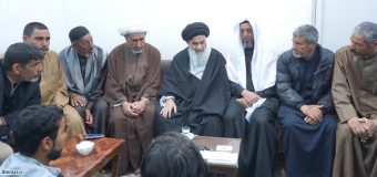 The arrival of visitors from Iraq who came to see the Grand Ayatollah Sayid Sadiq Al-Shirazi