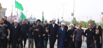 Members of Office of Grand Ayatollah Shirazi Participate in Arbaeen Pilgrimage