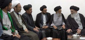 Members of Bamyan City Council Visit Grand Ayatollah Shirazi