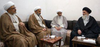Representatives of Grand Ayatollah Shirazi Meet in Grand Jurist in Qom