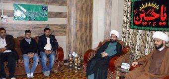 Sheikh Abdul Redha Maash Visits Office of Grand Ayatollah Shirazi in Basra