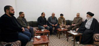 Distinguished Figures From Holy Karbala Meet with Grand Ayatollah Shirazi