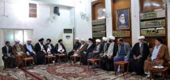 Office of Grand Ayatollah Shirazi in Karbala Hosts Activists from Iraq and Kuwait.