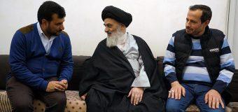 Head of Sayed Shuhada Organization from Basra Meets Grand Ayatollah Shirazi.