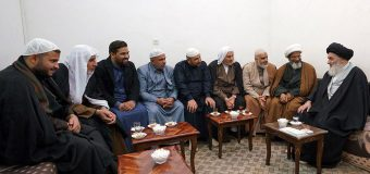 Students from Imam Sadiq Seminary in Baghdad Meet with Grand Ayatollah Shirazi.