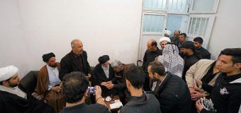 Iraqi Pilgrimage Caravan Arrives at Office of Grand Ayatollah Shirazi.