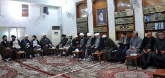 Cultural, Religious Figures at Office of Grand Ayatollah Shirazi in Holy Karbala.