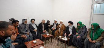Pilgrimage Caravan from Iraq Visits Office of Grand Ayatollah Shirazi in Qom.