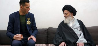 Tallest Young Man Meets Grand Ayatollah Shirazi