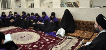 Delegations from Lady Khadija Seminary Visit Office of Grand Jurist in Karbala