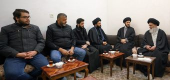 Famous Iraqi Speaker Meets Grand Ayatollah Shirazi