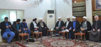 Clerics and Religious Figures Visit Office of Grand Ayatollah Shirazi in Karbala