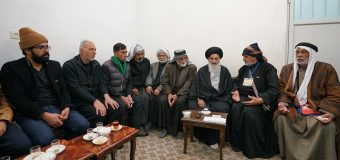 Iraqi Pilgrimage Caravan Visits House of Grand Ayatollah Shirazi in Holy Qom