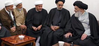 Clerics from Holy Najaf Meet with Grand Ayatollah Shirazi