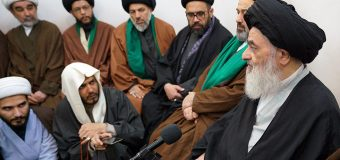 Clerics and Najaf Seminary Teachers Meet with Grand Ayatollah Shirazi