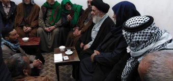 Iraqi Pilgrimage Caravan Visits Grand Ayatollah Shirazi in Holy Qom