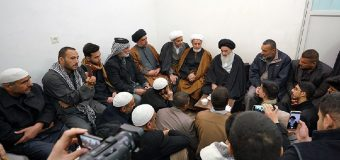 Clerics and Religious Students from Baghdad Meet Grand Ayatollah Shirazi