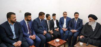 Cultural Activists from Holy Najaf Meet with Grand Ayatollah Shirazi