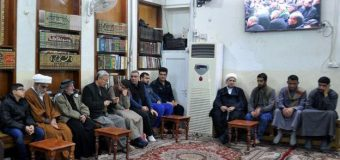 Office of Grand Ayatollah Shirazi in Holy Karbala Hosts University Students