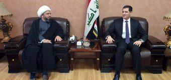 The Representative of Grand Ayatollah Shirazi Meets Head of Ministry of Planning and the Kuwaiti Ambassador
