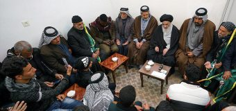 Iraqi Pilgrimage Caravan Visits Office of Grand Ayatollah Shirazi