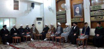 Religious Figures and Iraqi Pilgrims Visit Office of Grand Ayatollah Shirazi
