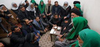 Imam Ridha Pilgrimage Caravan Visits Office of Grand Ayatollah Shirazi