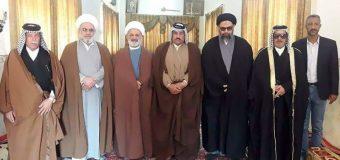 Representative of Grand Ayatollah Shirazi Visits Chiefs of Iraqi Tribes