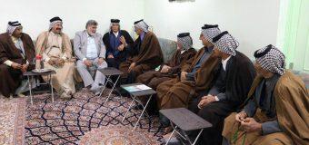 Iraqi Tribal Chiefs Meet with Public Relations Manager of Grand Ayatollah Shirazi
