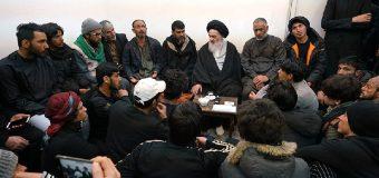 Members of Om Al-Banin Caravan Visit Office of Grand Ayatollah Shirazi