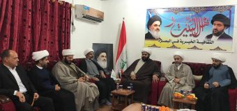 Delegations from the Office of Grand Ayatollah Shirazi Visit AhlulBayt Institute