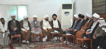 Office of Grand Ayatollah Shirazi Hosts Visitors from Lebanon Syria and Iran