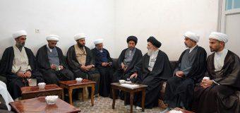 Clerics from Najaf Seminary Meet Grand Ayatollah Shirazi