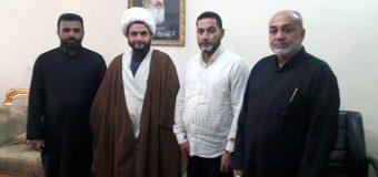 Mawqif TV Delegations Visit PR Manager of Grand Ayatollah Shirazi