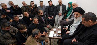 Pilgrimage Caravan from Holy Karbala Visits Grand Ayatollah Shirazi