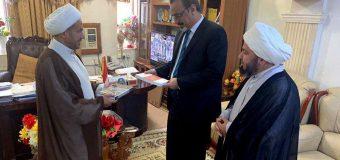 Members of Grand Jurist's Office Visit Head of Education Department in Holy Najaf
