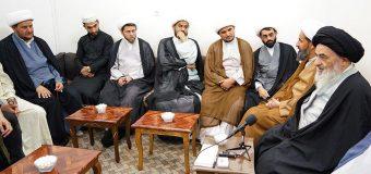 Teachers and Clerics from Hilli Seminary in Baghdad Meet Grand Ayatollah Shirazi