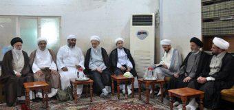 Pilgrims of Imam Hussain Visit Office of Grand Ayatollah Shirazi in Holy Karbala