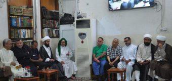 Social and Cultural Figures Visit Office of Grand Ayatollah Shirazi in Holy Karbala