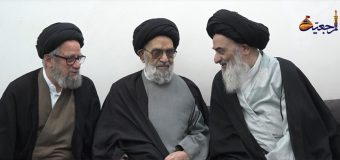 Custodian of Lady Sakina Shrine Visits Grand Ayatollah Shirazi