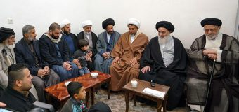 Officials of Al-Zahra Seminary Meet with Grand Ayatollah Shirazi
