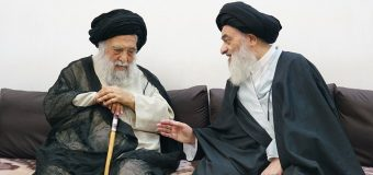 Ayatollah Mostajabi Meets Grand Ayatollah Shirazi in Holy Qom