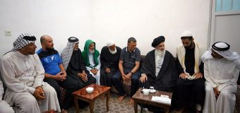 Iraqi Pilgrims Visit Office of Grand Ayatollah Shirazi in Holy Qom
