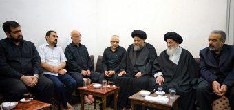 Managers of Baitul Abbas Religious Center Visit Grand Ayatollah Shirazi