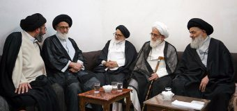 Ayatollah Sayed Hussain Shahroodi Meets Grand Ayatollah Shirazi in Holy Qom