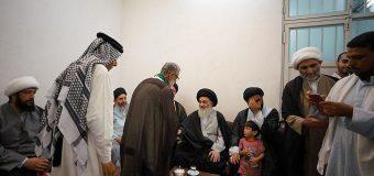 Imam Redha Pilgrimage Caravan Visits Office of Grand Ayatollah Shirazi