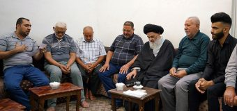Members of Rasul Adham Institute Meet Grand Ayatollah Shirazi