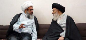Imam Kadhim Schools Principal Meets Grand Ayatollah Shirazi