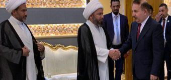 Delegations of Grand Ayatollah Shirazi Meet Iraqi Minister of Interior in Baghdad