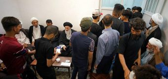 Al-Mahdi Pilgrimage Caravan Visits Office of Grand Ayatollah Shirazi